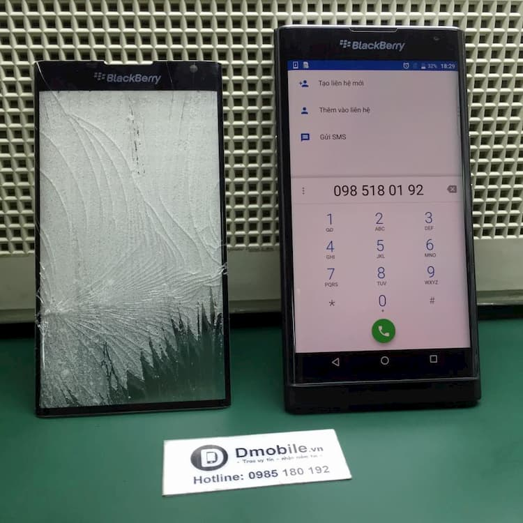 ép kính blackberry priv