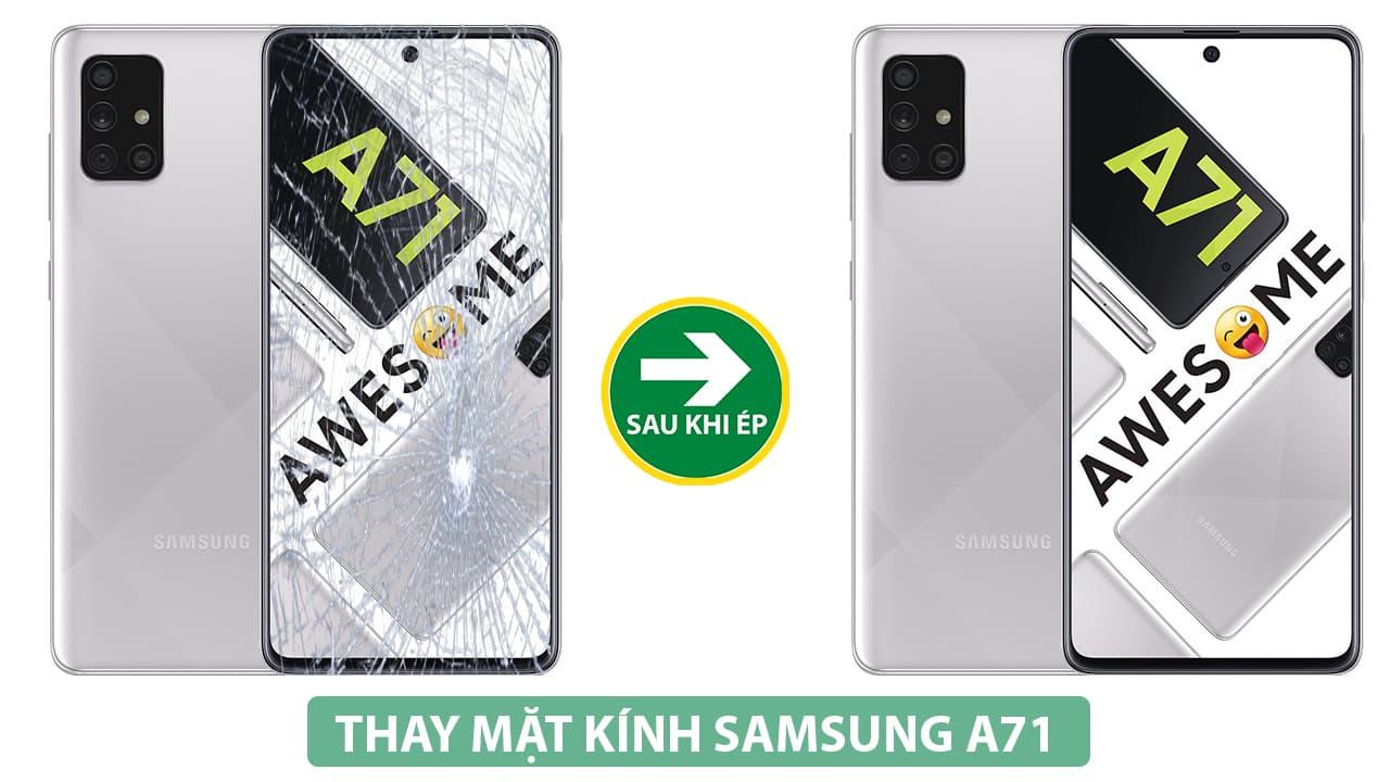 Thay mặt kính Samsung A71 uy tín tại đống đa